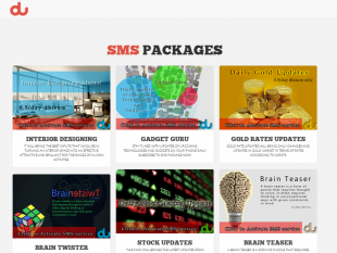 SMS Subscription Website for DU-Group