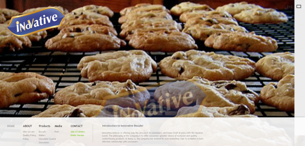 Flash Website Project for Biscuit Company 2